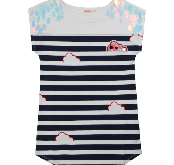 Billieblush  Stripe dress clouds navy