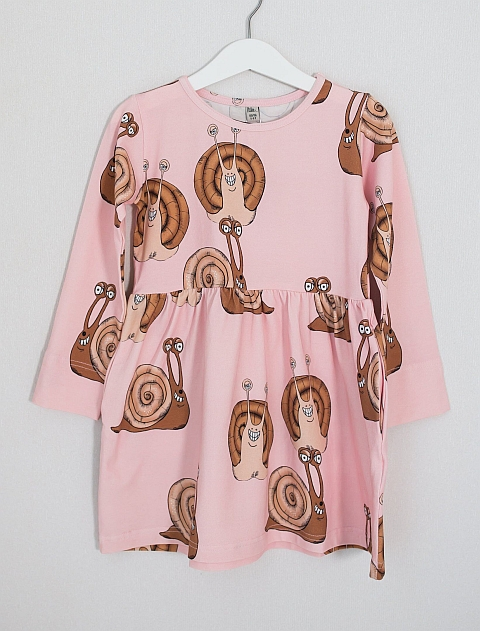 Blaa! Akaa Wrinkle Dress Snail Rose