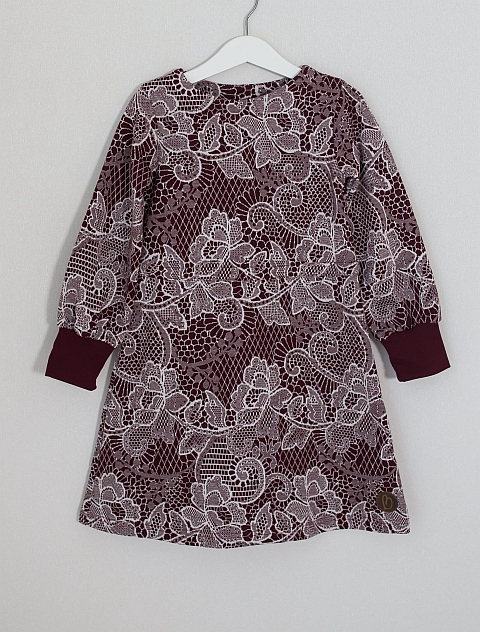 Blaa! Enfield Knitted Dress Lace Chocolate