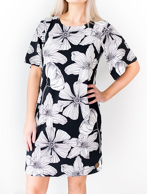 Blaa! Manhattan Dress Black Flower