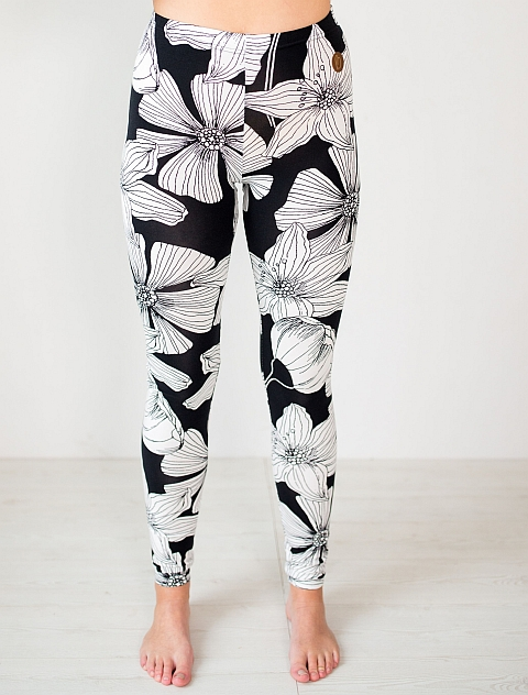 Blaa! Black flower Miami Woman Leggings