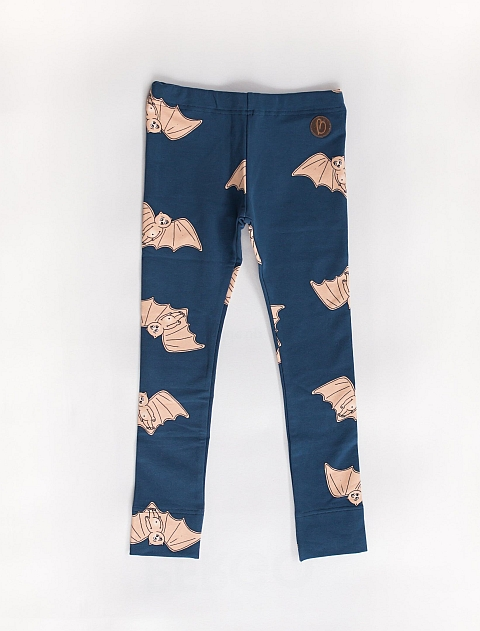 Blaa! Paris college Leggings Bat night blue