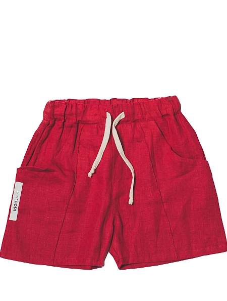 Booso Linen Shorts red