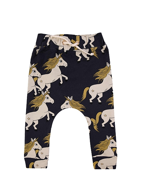 Dear Sophie Black Unicorn Pants