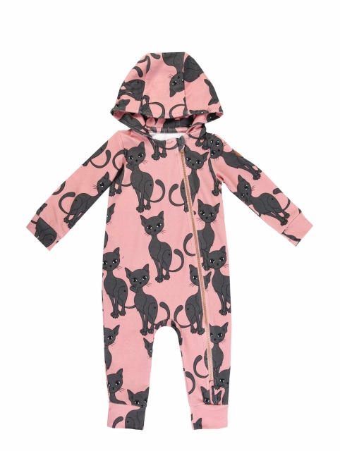 Dear Sophie Pink Cat overall