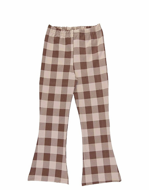 Dear Sophie Beige checked Flares