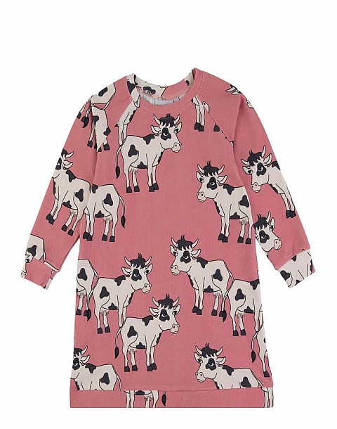 Dear Sophie cow tunik pink