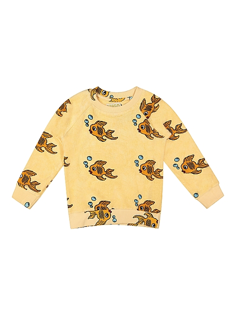 Hugo loves Tiki Terry sweatshirt dark Yellow