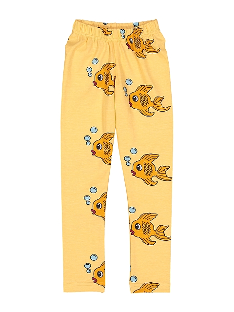Hugo loves Tiki Leggings Yellow Fish