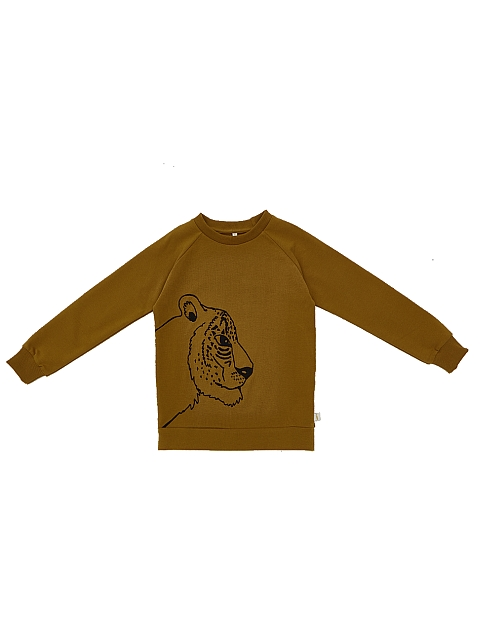 iglo+indi Honey Mustard Leopard Sweatshirt