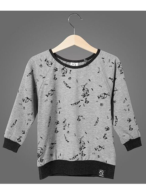 Kukukid Sweatshirt Candies Grey