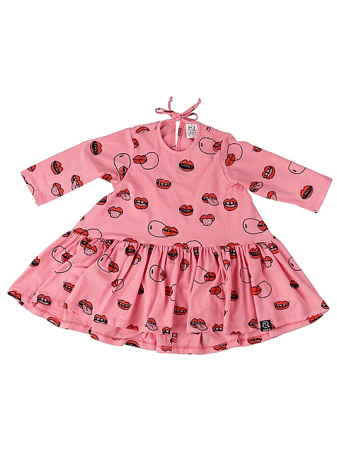 Kukukid Dancing Dress Pink Lips 3/4 Hiha