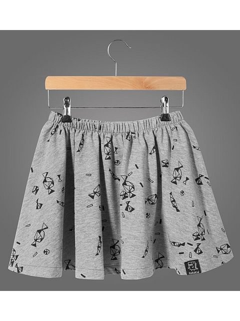 Kukukid Skirt Grey melange Candies
