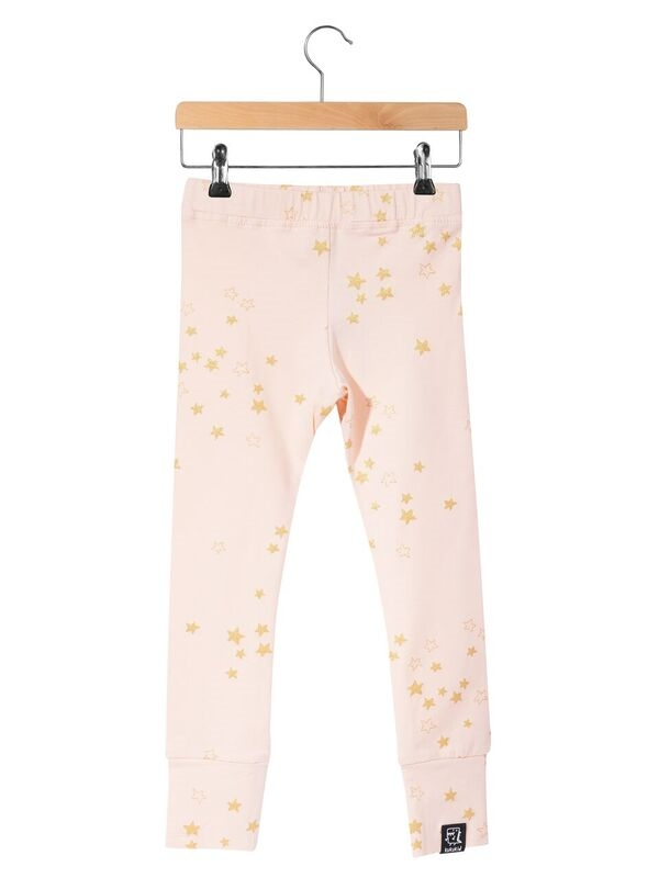 Kukukid Leggings Golden Stars Pink