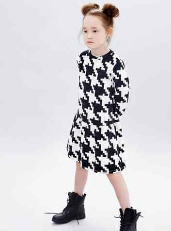 Little Man Happy Space Invaders Volant Dress