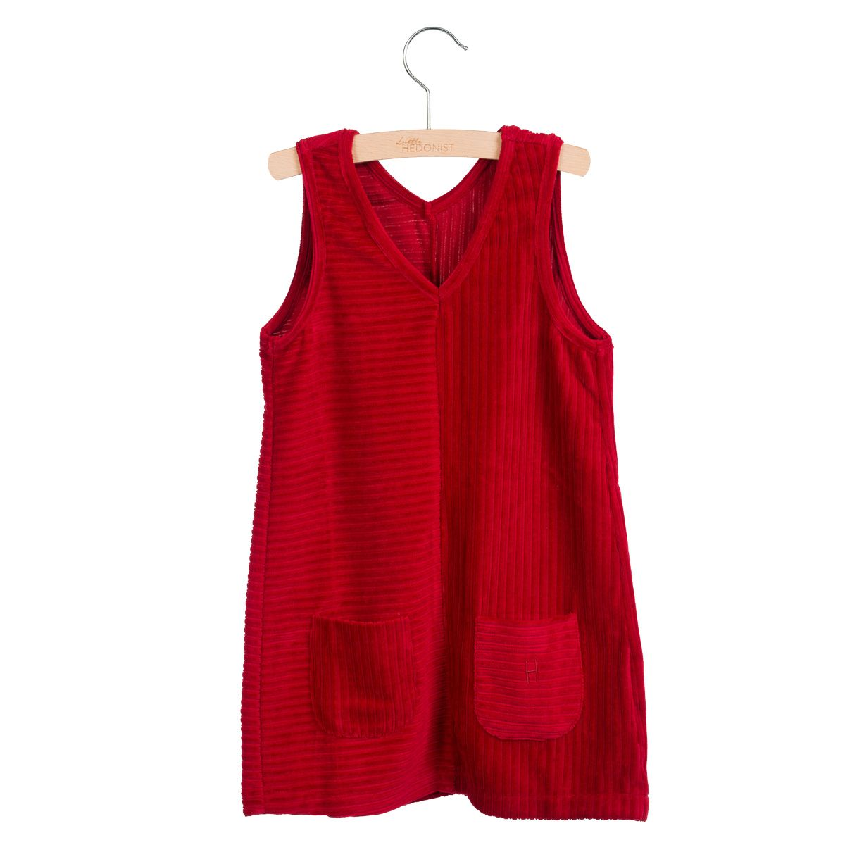 Little Hedonist Nikki Pinafore Tango red