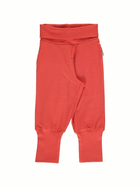 Maxomorra Rib pants Rusty red
