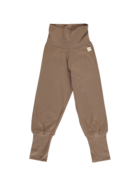 Maxomorra Pants Rib Solid Mole