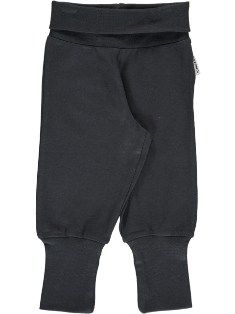 Maxomorra Pants Rib Musta