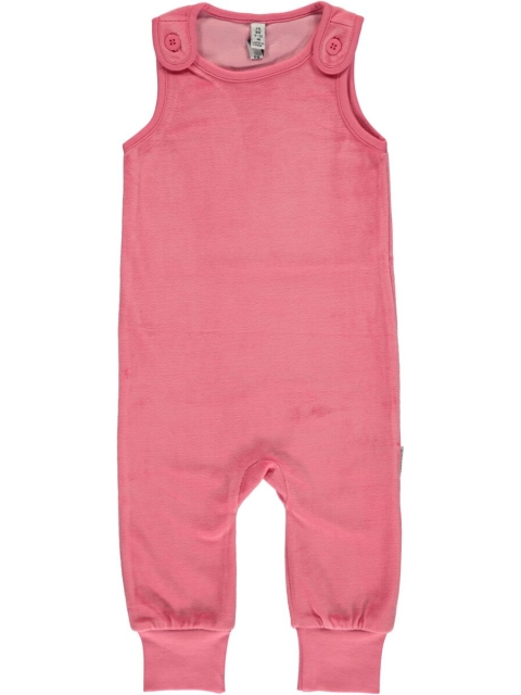 Maxomorra Playsuit Rose Pink velour