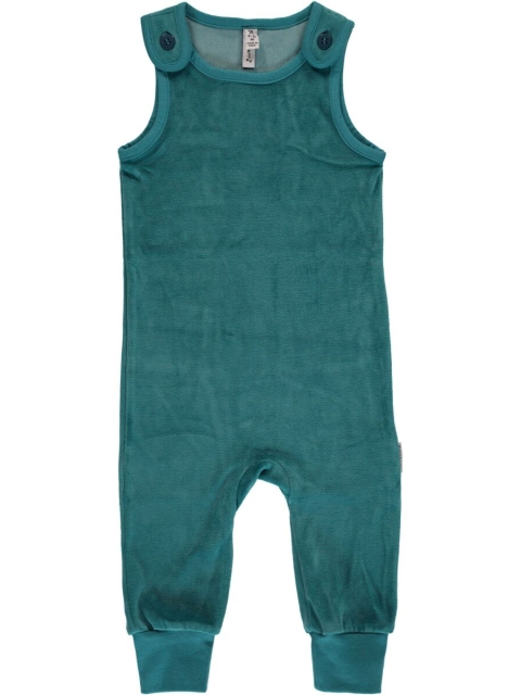 Maxomorra Playsuit Soft petrol velour