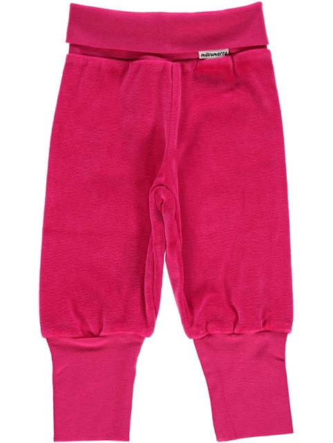 Maxomorra Velour Pants Rib Cerise