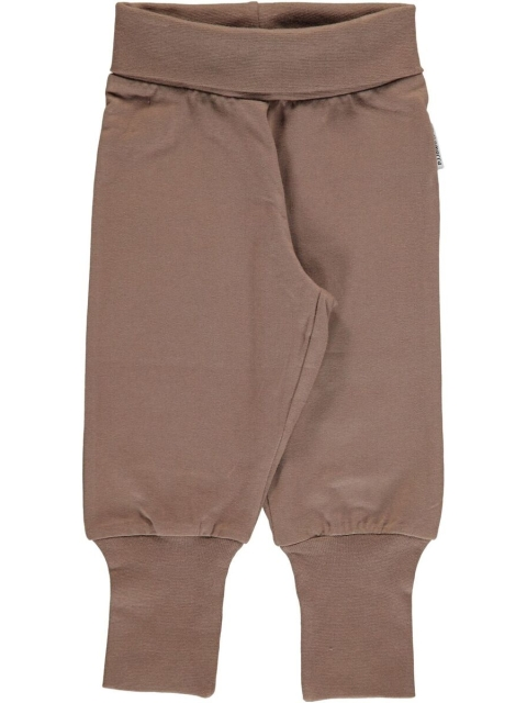 Maxomorra Pants Rib Hazel brown