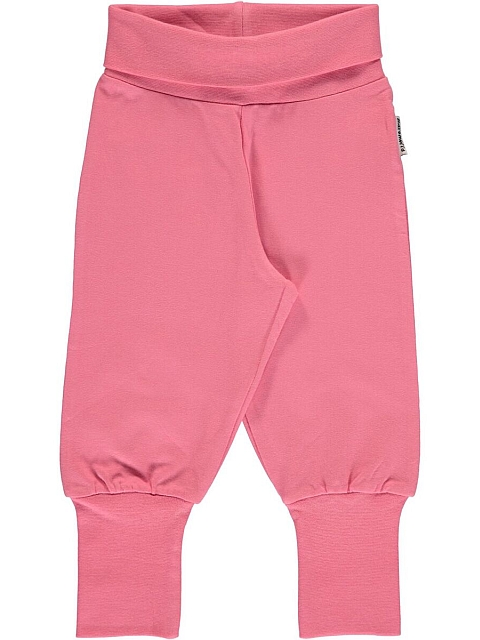 Maxomorra Pants Rib Rose pink