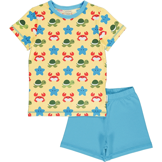 Maxomorra Beach Buddies ss tee and shorts