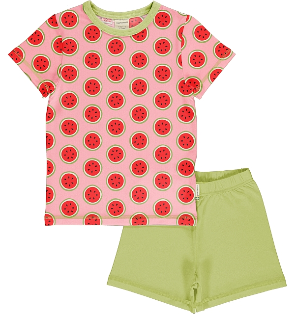 Maxomorra Watermelon ss tee and shorts