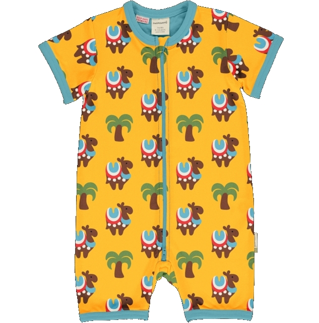 Maxomorra Camel Caravan Rompersuit  ss