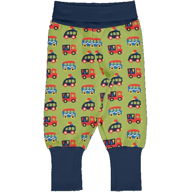 Maxomorra Colourfulc Cars Rib pants