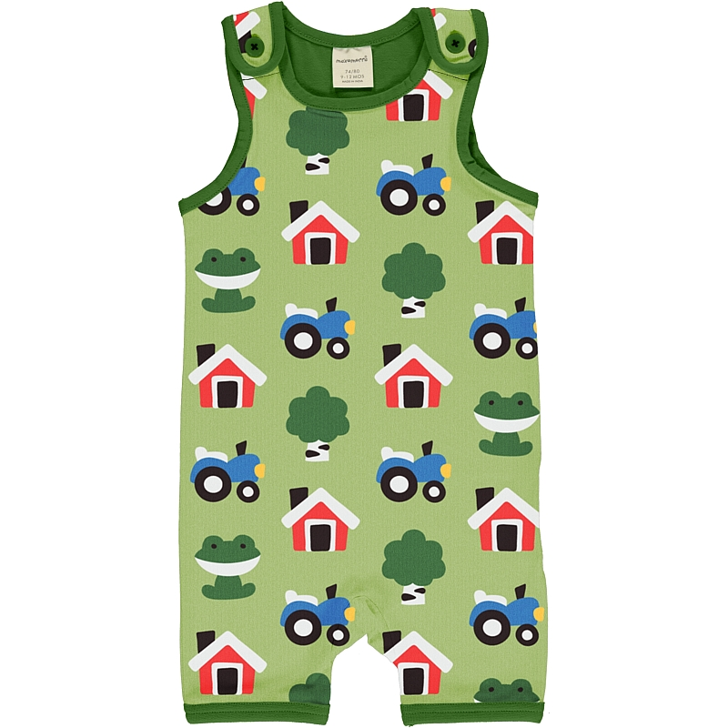 Maxomorra Forest farm Playsuit short