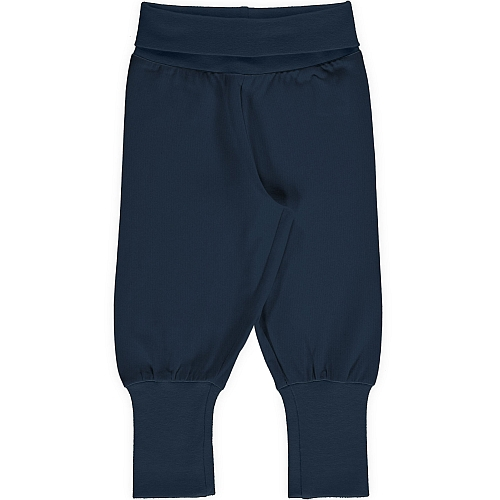 Maxomorra Pants Rib Solid Navy
