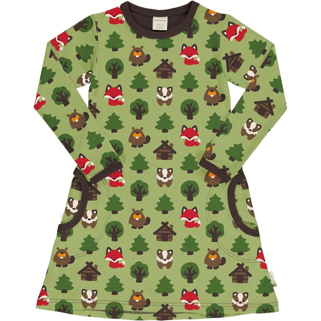 Maxomorra green forest dress