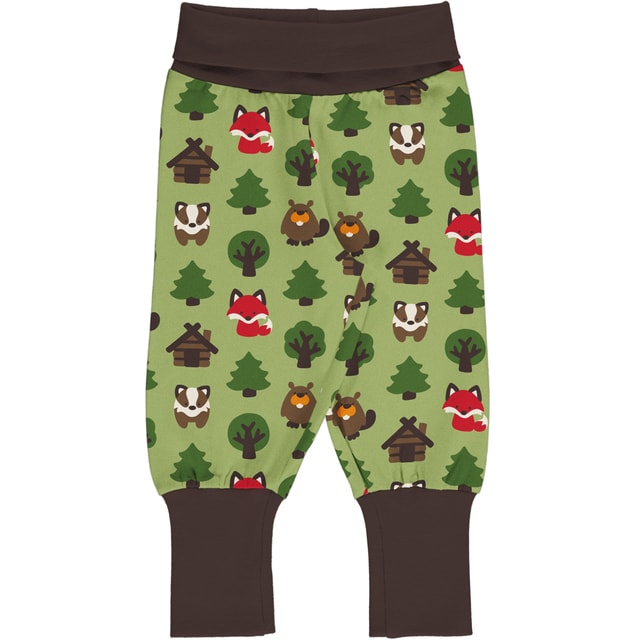Maxomorra Green Forest Rib pants