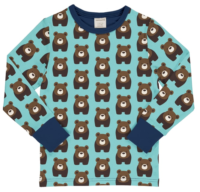 Maxomorra Bear Top LS