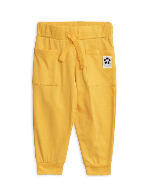 Mini Rodini  Solid cotton trousers yellow