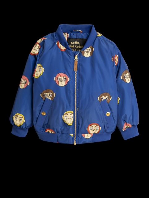 Mini Rodini  Monkey Baseball coat Blue