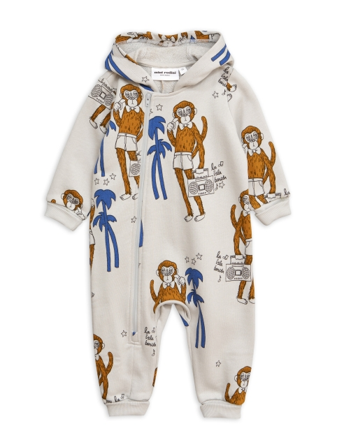 Mini Rodini  Cool monkey onesie grey