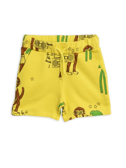 Mini Rodini  Cool monkey sweatshorts yellow