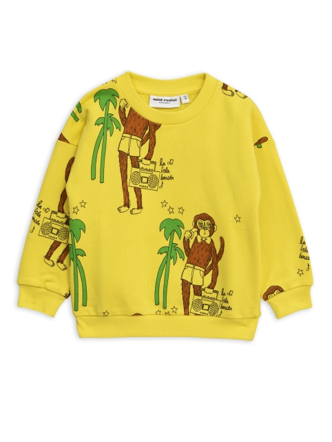 Mini Rodini  Cool monkey Sweatshirt Yellow