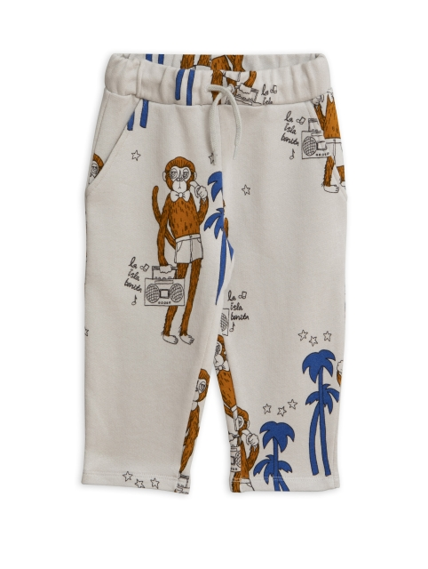 Mini Rodini  Cool monkeys aop Sweatpants grey