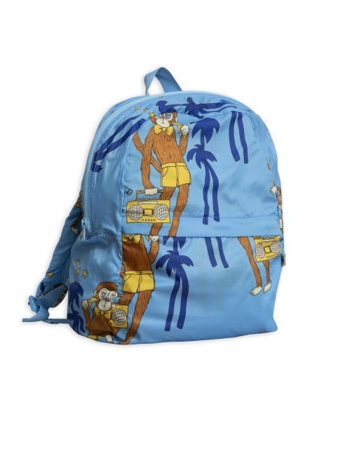 Mini Rodini  Cool monkey backpack sininen
