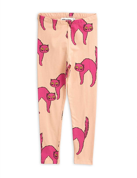 Mini Rodini  Catz Leggings  Pink