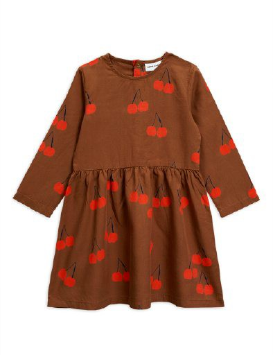 Mini Rodini Cherry woven Dress Brown