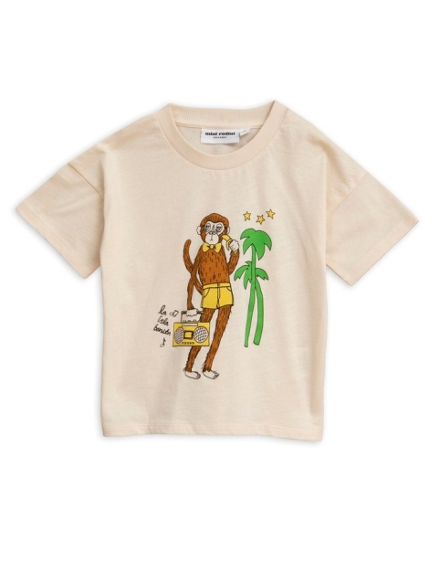 Mini Rodini  Cool monkey sp Tee offwhite