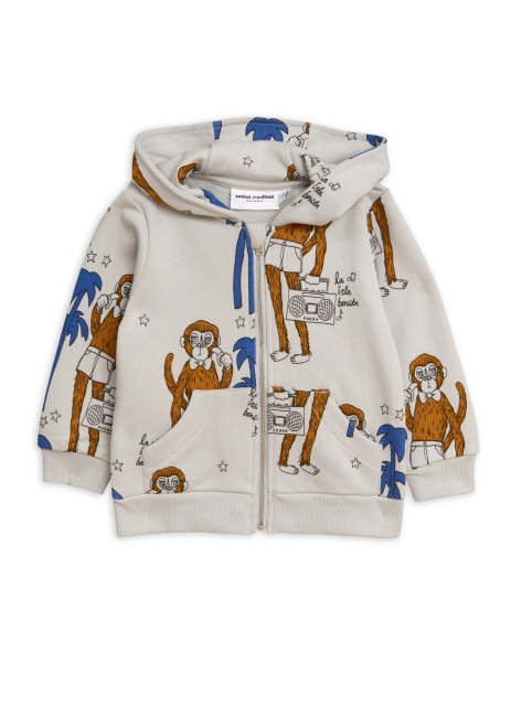 Mini Rodini  Cool monkey Ziphood grey