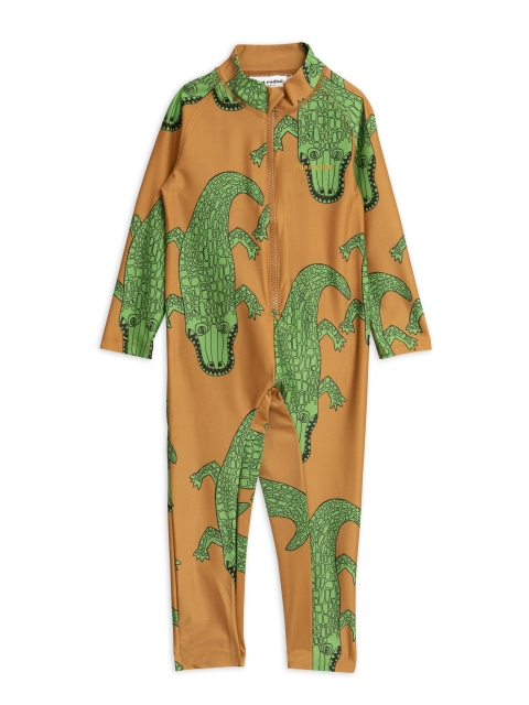 Mini Rodini   Crocco UV Suit Brown
