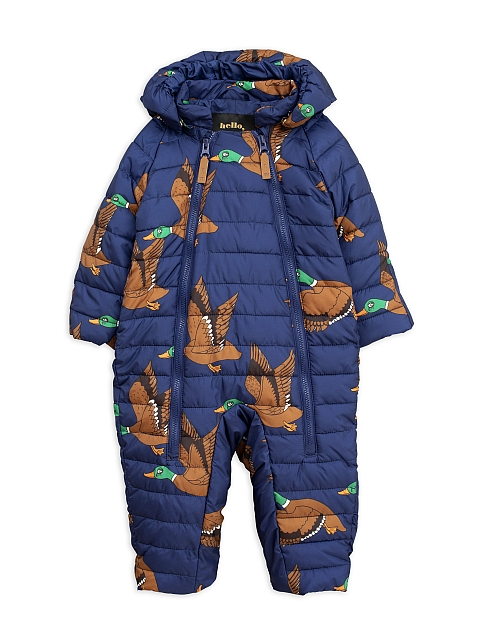 Mini Rodini  Ducks Insulator Baby overall navy